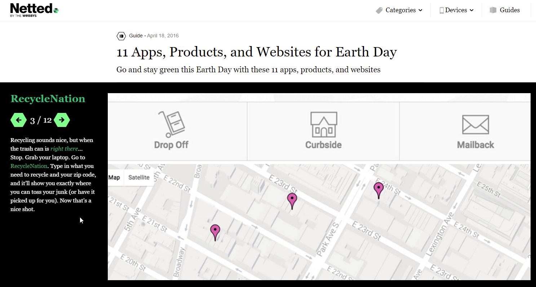 انضمام موقع RecycleNation إلى دليل نيتد لأفضل المصادر الخاصة بيوم الأرض!!