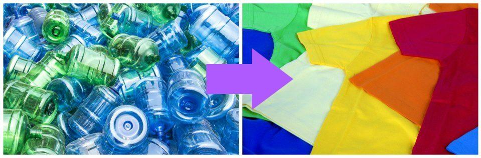 كيف يتم إعادة تدوير النفايات من العبوات البلاستيكية إلى ملابس؟؟