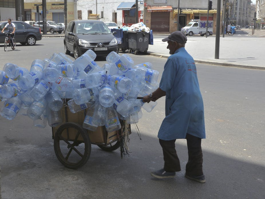السواعد الصغيرة لإعادة التدوير في المغرب