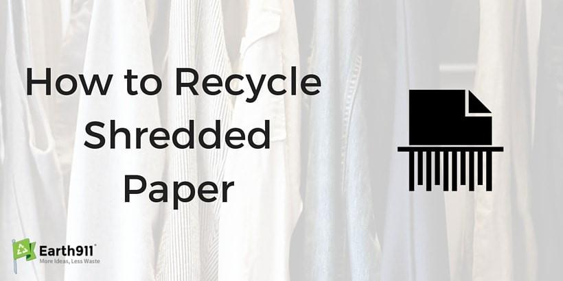 كيف يتم إعادة تدوير الورق الممزق؟