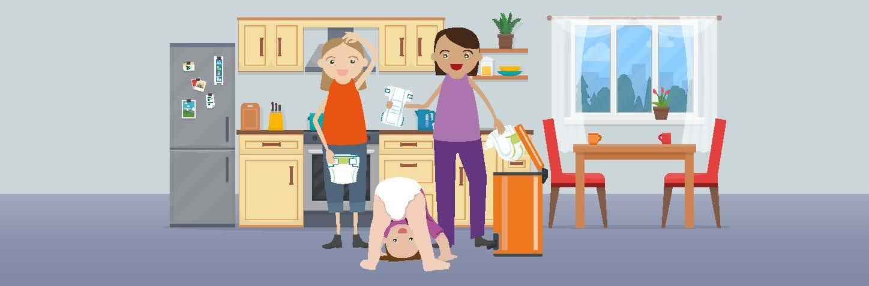 كيف تتخلص من حفاضات الأطفال في شمال لندن؟